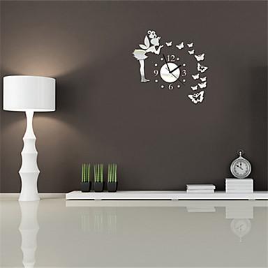 specchio a onda da muro : ... Stile Moderno angolo farfalla specchio Orologio da parete - USD $ 9.99